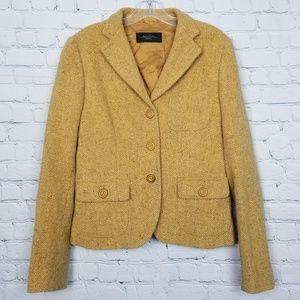 MaxMara Womens 100% wool  Mustard Yellow Blazer